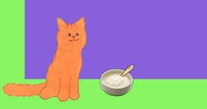 Lekker! Yoghurt voor Dikkie Dik. Net als op de creche.