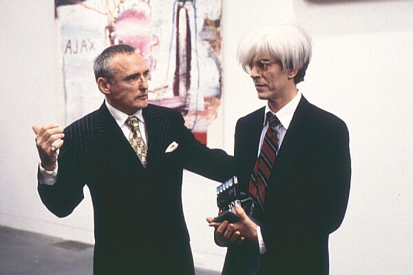 David Bowie als Andy Warhul in de film 'Basquiat'