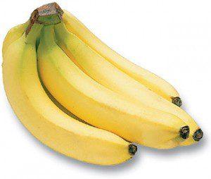 Tros bananen op witte achtergrond
