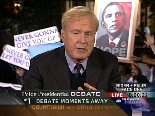 VP-debat: rickrolled