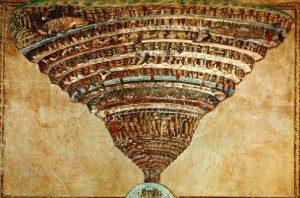 Sandro Botticelli - Dante's indeling van het Infero