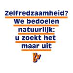 """VVD poster: """"Zelfredzaamheid? We bedoelen natuurlijk: u zoekt het zelf maar uit."""""""