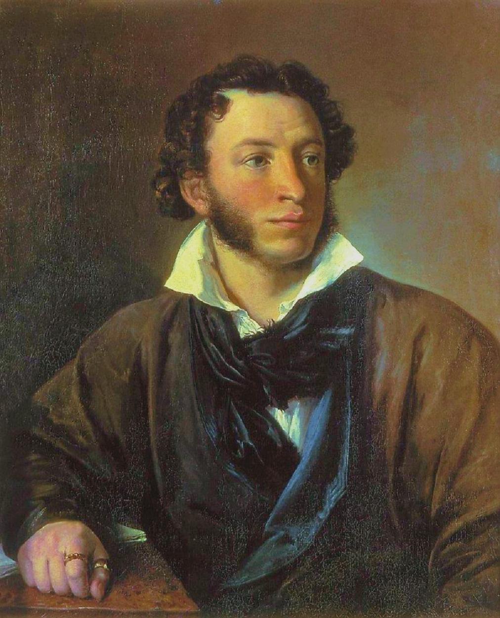 Portret van Aleksandr Poeshkin (Vasili Tropinin, 1827)