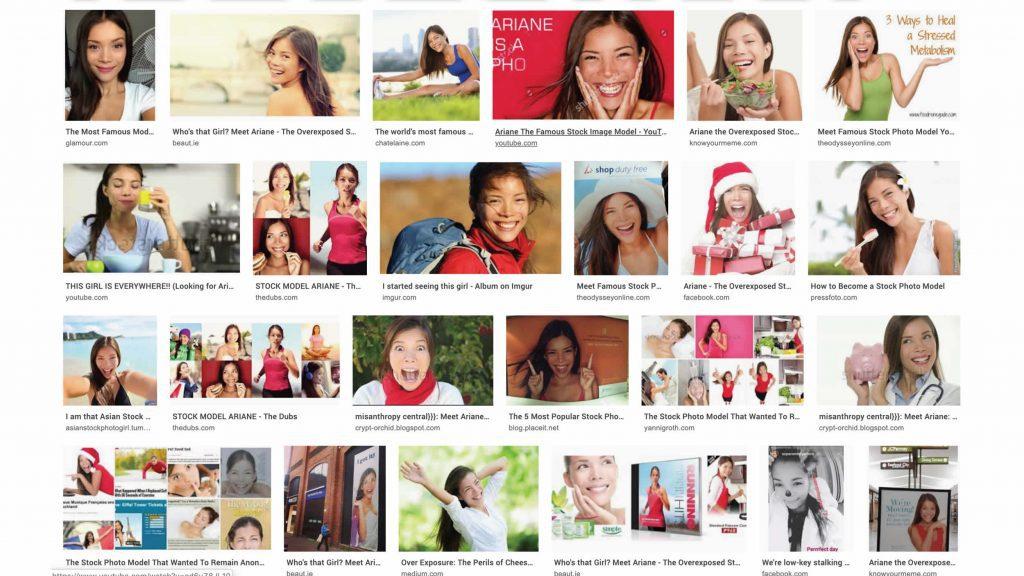 Ariane The Overexposed Stockphoto Model: een fotomodel dat je overmatig vaak tegenkomt